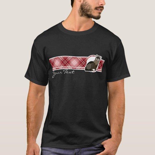 Red Plaid Ferret T-Shirt