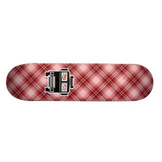Red Plaid Fire Truck Custom Skateboard