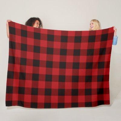 Red Plaid Fleece Blanket