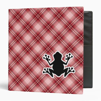 Red Plaid Frog Binder