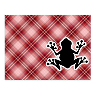 Red Plaid Frog Postcard