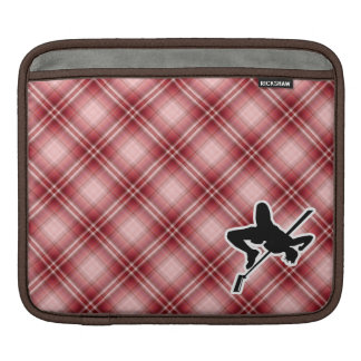 Red Plaid High Jump Sleeve For iPads