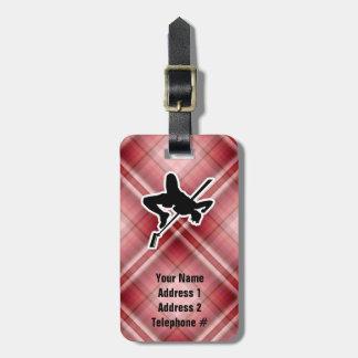 Red Plaid High Jump Bag Tag