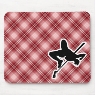 Red Plaid High Jump Mousepads