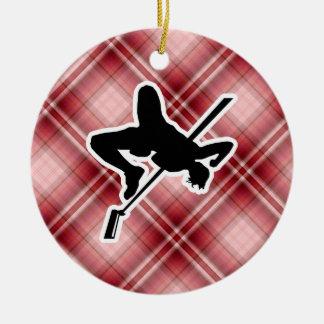 Red Plaid High Jump Ornament