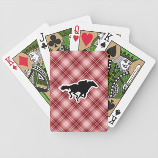 Red Plaid Horse Racing Bicycle Card Deck