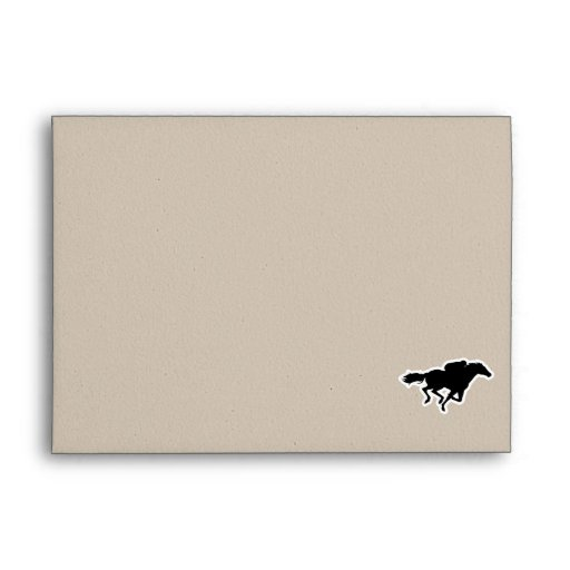 Red Plaid Horse Racing Envelope