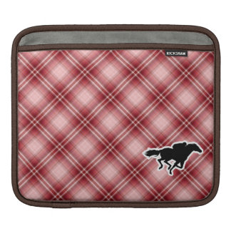 Red Plaid Horse Racing Sleeves For iPads