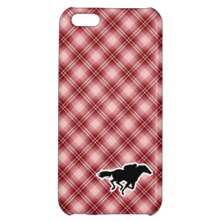 Red Plaid Horse Racing Cover For iPhone 5C