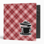 Red Plaid Hot Coffee 3 Ring Binder
