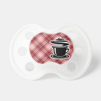 Red Plaid Hot Coffee BooginHead Pacifier