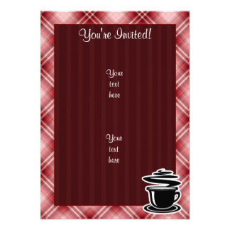 Red Plaid Hot Coffee Announcements