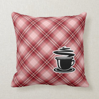 Red Plaid Hot Coffee Pillows