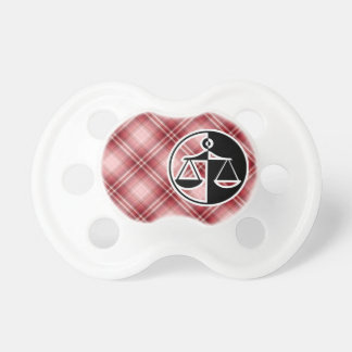 Red Plaid Justice Scales Pacifier