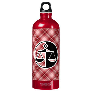 Red Plaid Justice Scales SIGG Traveler 1.0L Water Bottle