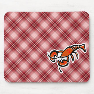 Red Plaid Lobster Mousepads