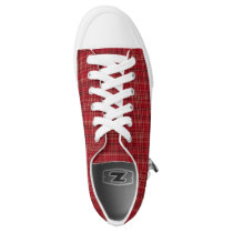 Red Plaid Low-Top Sneakers