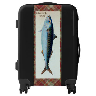 Red Plaid Mackerel Fishing Luggage