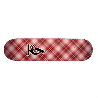 Red Plaid Microscope Skate Boards