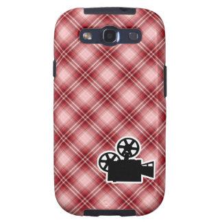 Red Plaid Movie Camera Galaxy SIII Cases
