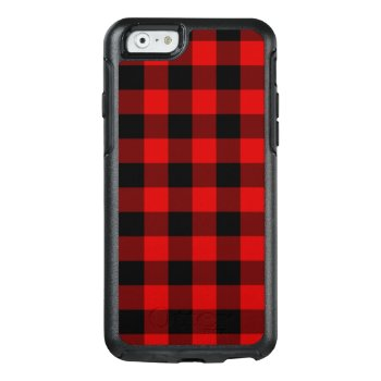 Red Plaid Otterbox Iphone 6/6s Case by expressivetees at Zazzle