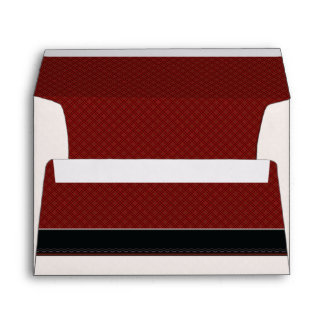 Red Plaid Pattern With Border Envelope