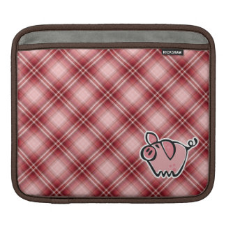 Red Plaid Pig Sleeve For iPads