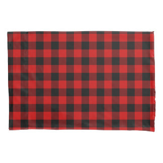 Red Plaid Pillow Case