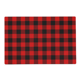 Red Plaid Placemat