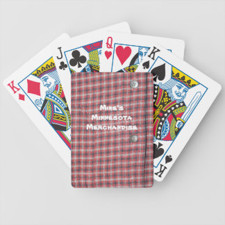 Red Plaid Playing Cards