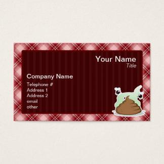 Red Plaid Poop Business Card