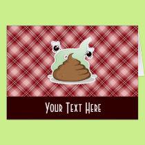 Red Plaid Poop Card