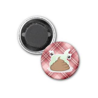 Red Plaid Poop Magnet