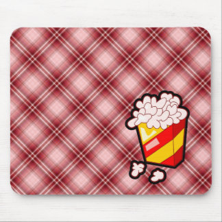 Red Plaid Popcorn Mousepad
