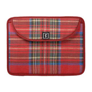 Red Plaid Print MacBook Pro Sleeve