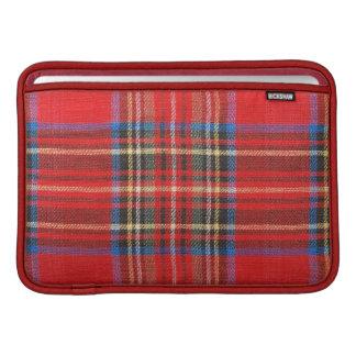 Red Plaid Print MacBook Sleeve