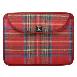 Red Plaid Print Sleeve For MacBooks