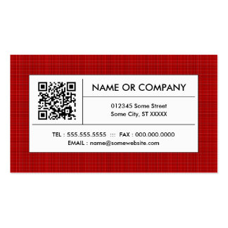 red plaid QR code Double-Sided Standard Business Cards (Pack Of 100)