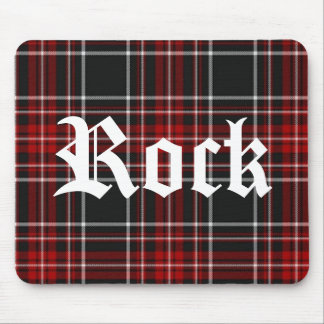 Red Plaid Rock - Mousepad
