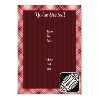 Red Plaid Rugby 5x7 Paper Invitation Card