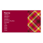 RED PLAID SHAPES PATTERN BACKGROUNDS DIGITAL ART G Double-Sided STANDARD BUSINESS CARDS (Pack OF 100)