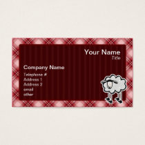 Red Plaid Sheep Business Card