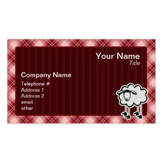 Red Plaid Sheep Business Cards