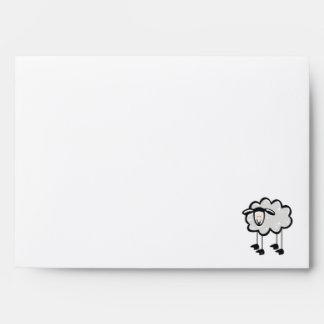 Red Plaid Sheep Envelopes