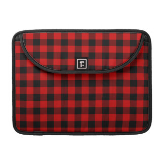 Red Plaid Sleeve For MacBook Pro