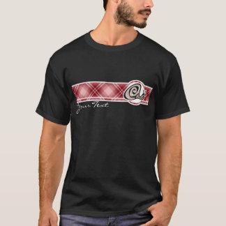 Red Plaid Snail T-Shirt