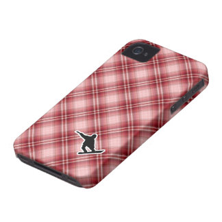 Red Plaid Snowboarding iPhone 4 Cover