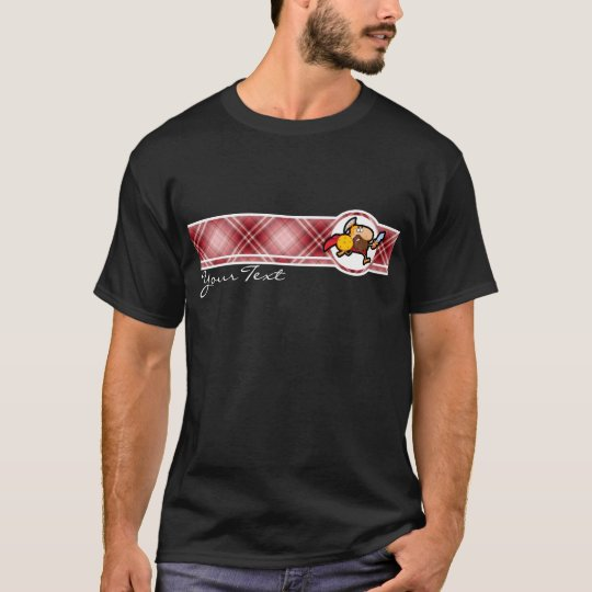 Red Plaid Spartan Gladiator T-Shirt