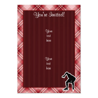 Red Plaid Speed Skater Card