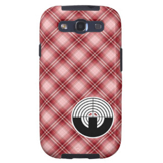 Red Plaid Sport Shooting Galaxy S3 Cover